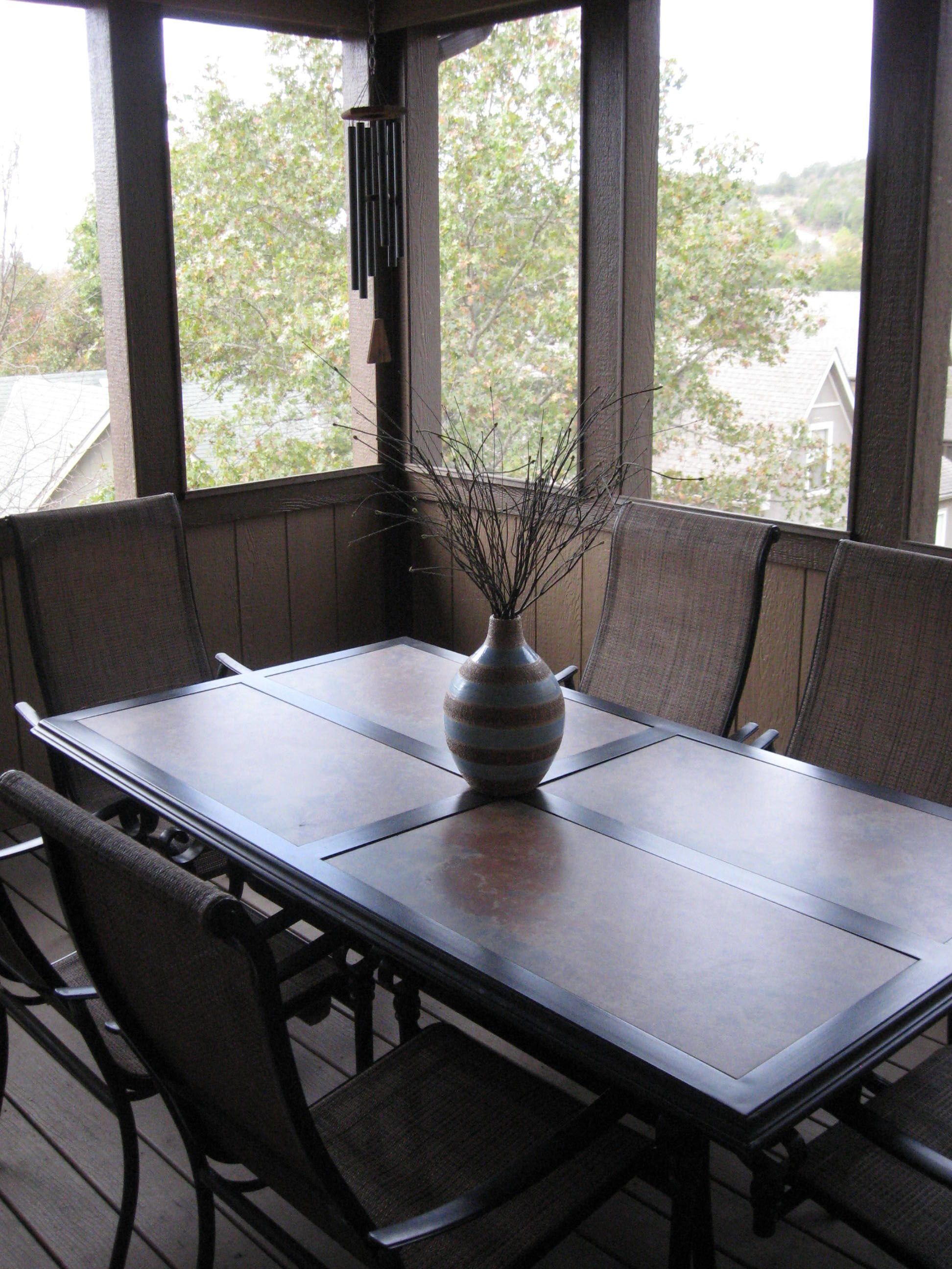Branson Canyon Vacation Rentals GAL Screened porch