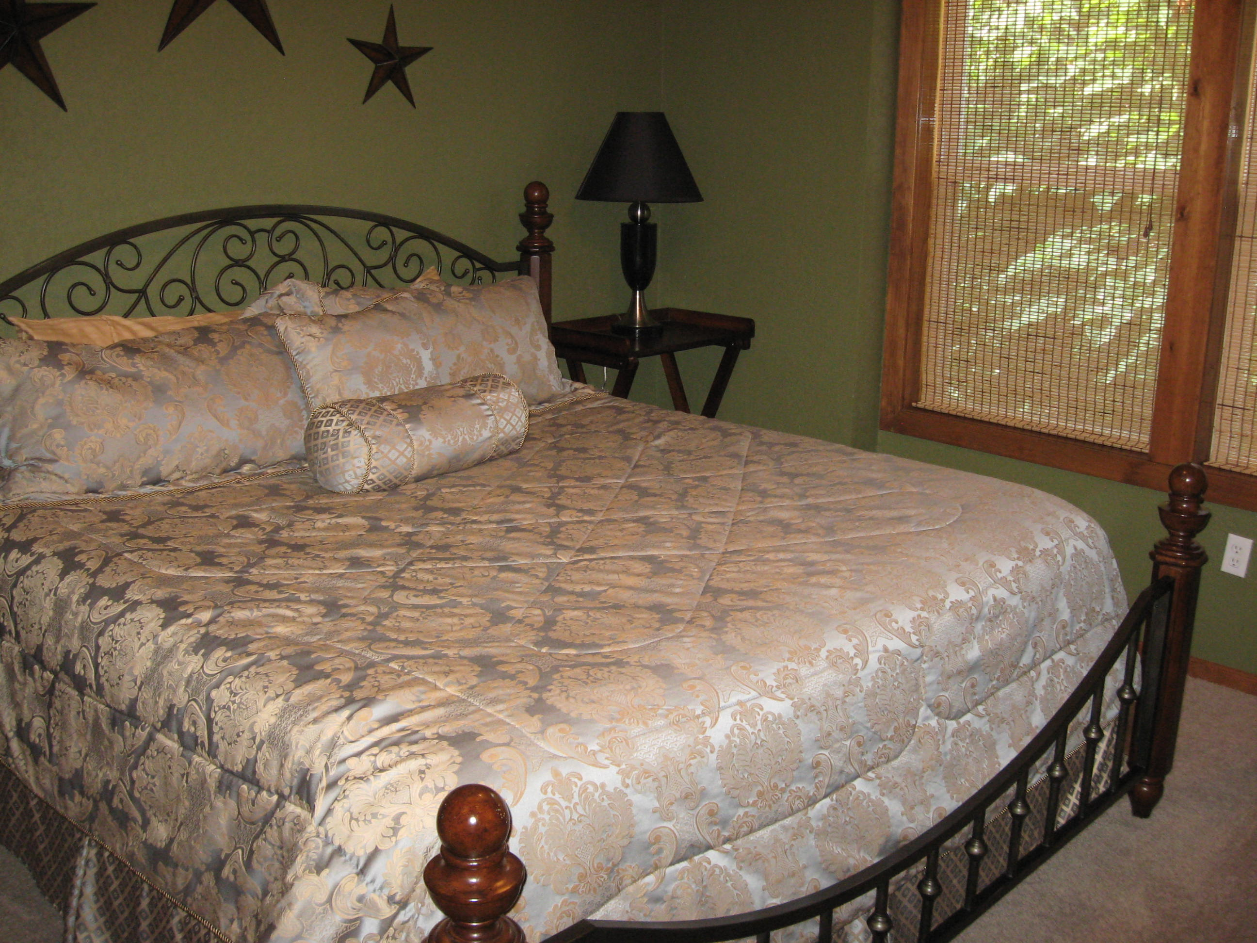 branson canyon vacation rental Alpine Lakeview - King (lower level)