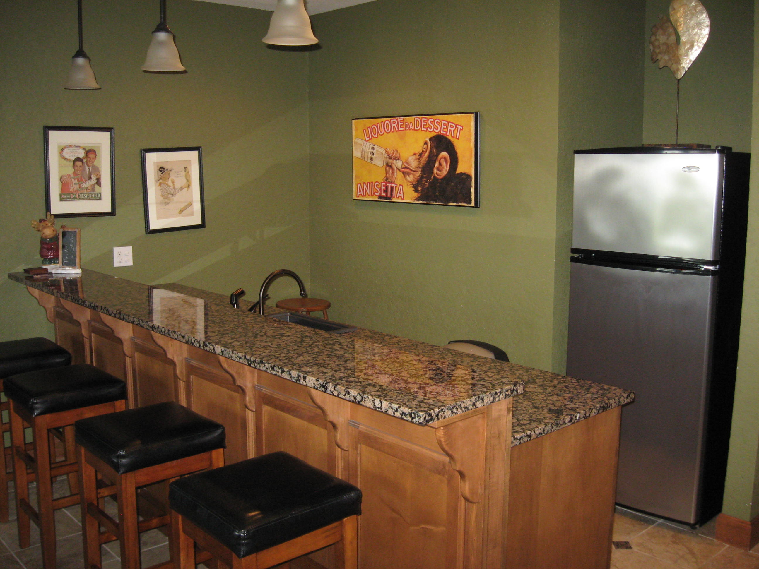 branson canyon vacation rental Alpine Lakeview - Full wet bar
